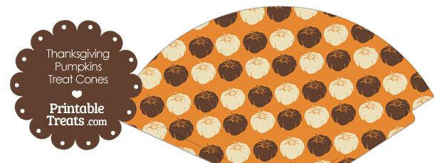 Thanksgiving Pumpkins Printable Treat Cone