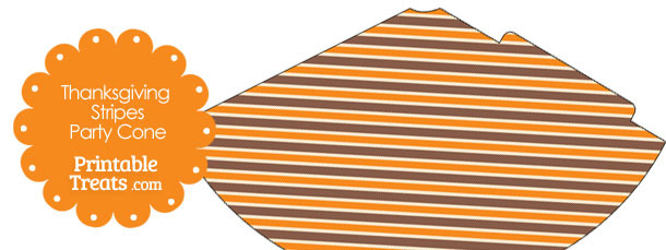 Thanksgiving Stripes Party Cone