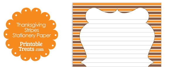 Thanksgiving Stripes Stationery Paper