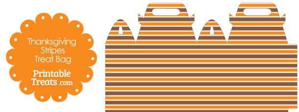 Thanksgiving Stripes Treat Bag