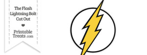 The Flash Lightning Bolt Symbol Cut Out