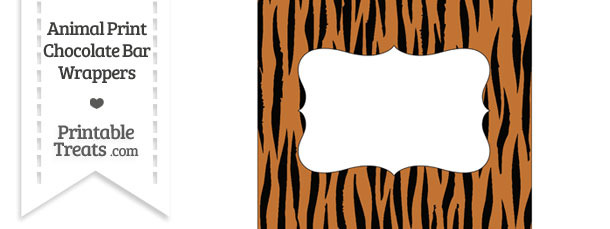 Tiger Print Chocolate Bar Wrappers