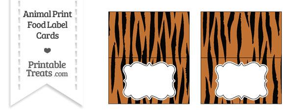 Tiger Print Food Labels