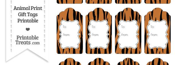 Tiger Print Gift Tags