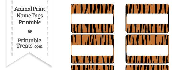 Tiger Print Name Tags