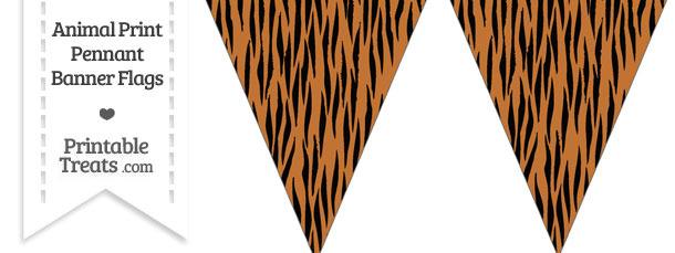 Tiger Print Pennant Banner Flag