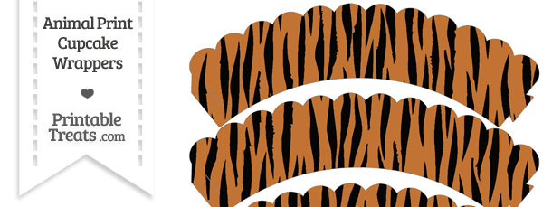 Tiger Print Scalloped Cupcake Wrappers