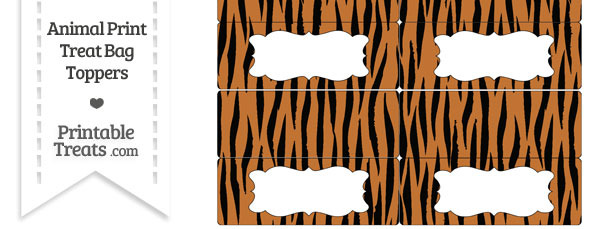 Tiger Print Treat Bag Toppers