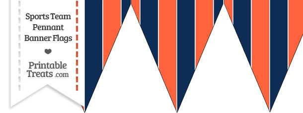 Tigers Colors Pennant Banner Flag