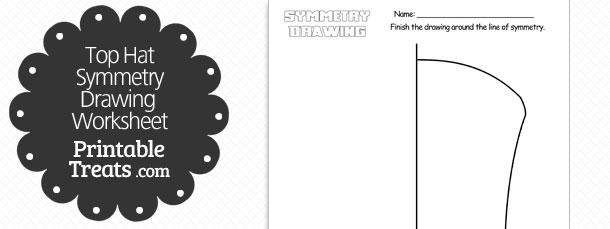 free-top-hat-symmetry-drawing-worksheet