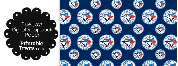 Toronto Blue Jays Baseball Digital Paper with Dark Blue Background