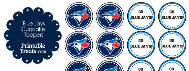 Toronto Blue Jays Cupcake Toppers