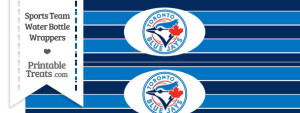 Toronto Blue Jays Water Bottle Wrappers
