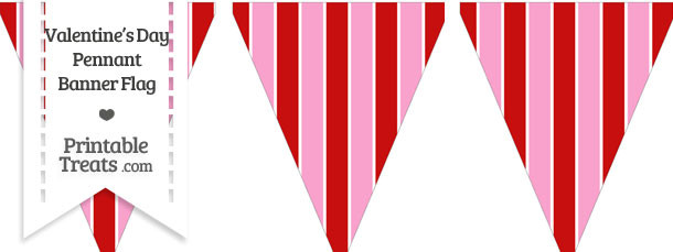 Valentines Day Pennant Banner Flag