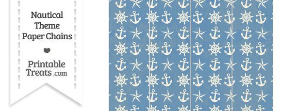 Vintage Blue Nautical Paper Chains