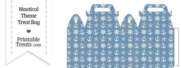 Vintage Blue Nautical Treat Bag
