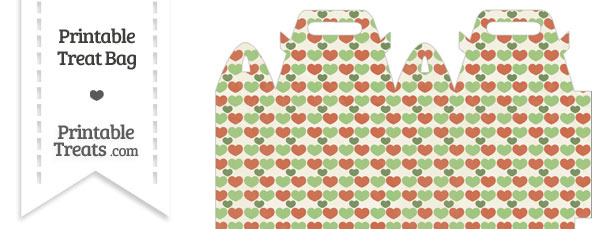 Vintage Christmas Hearts Treat Bag