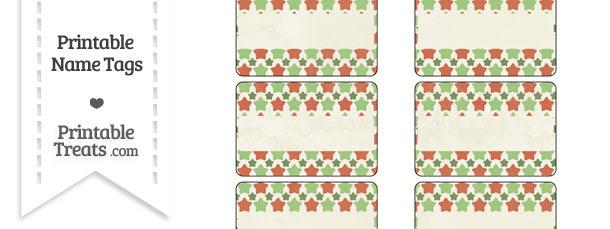 Vintage Christmas Stars Name Tags