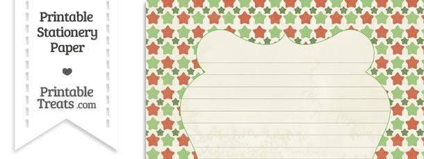 Vintage Christmas Stars Stationery Paper