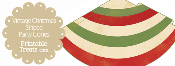 free-vintage-christmas-striped-party-cones