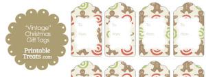 Vintage Gingerbread Cookie Gift Tags
