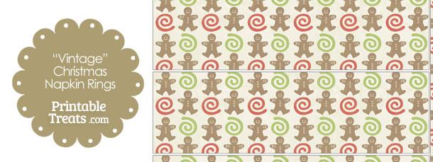 Vintage Gingerbread Cookie Napkin Rings