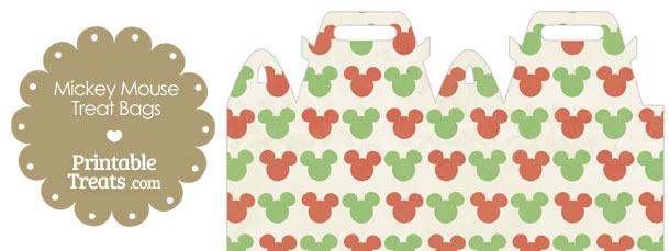 Vintage Mickey Mouse Christmas Treat Bag
