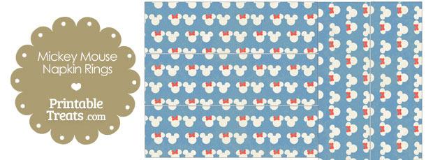 Vintage Minnie and Mickey Snow Theme Napkin Rings