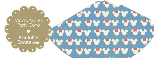 Vintage Minnie and Mickey Snow Theme Party Cone