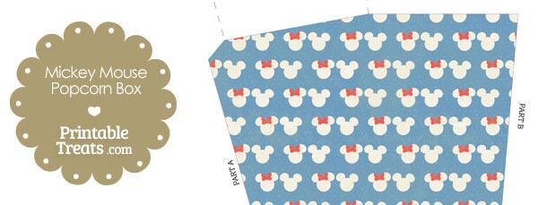 Vintage Minnie and Mickey Snow Theme Popcorn Box