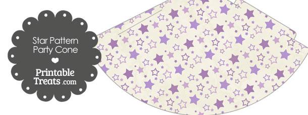 Vintage Purple Star Pattern Party Cone