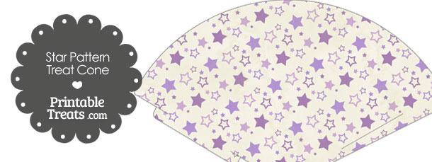 Vintage Purple Star Pattern Treat Cone