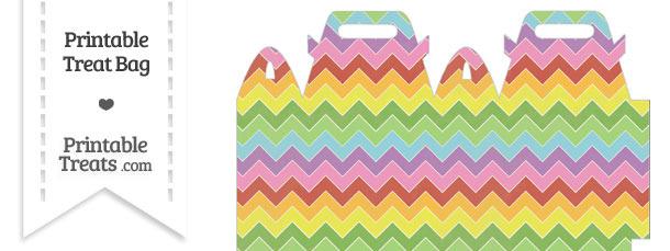 Vintage Rainbow Chevron Treat Bag