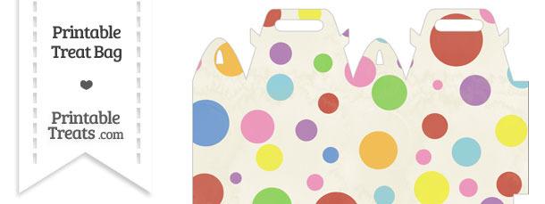 Vintage Rainbow Dots Treat Bag