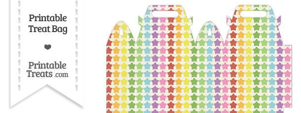Vintage Rainbow Stars Treat Bag