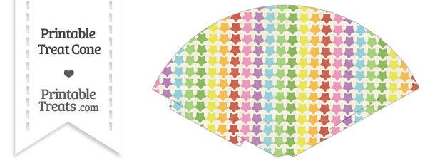 Vintage Rainbow Stars Treat Cone