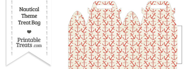 Vintage Red Anchors Treat Bag