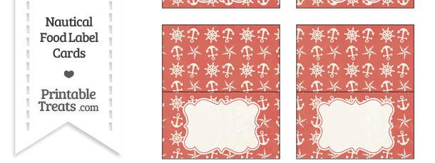 Vintage Red Nautical Food Labels