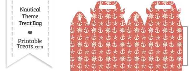 Vintage Red Nautical Treat Bag
