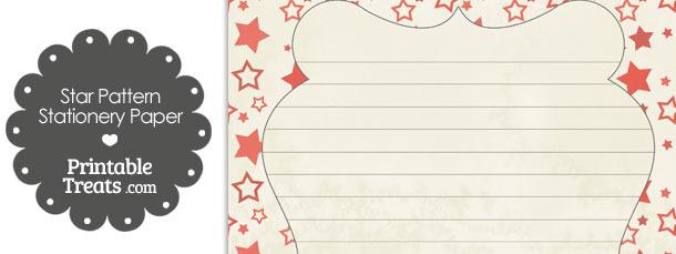 Vintage Red Star Pattern Stationery Paper