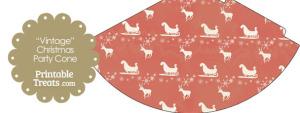 Vintage Santas Sleigh Party Cone