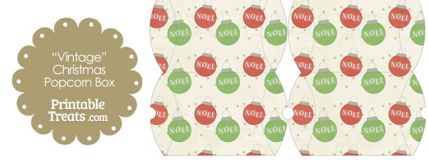 Vintage Small Noel Christmas Ornament Pillow Box