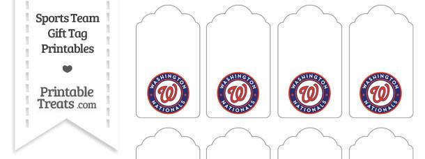Washington Nationals Gift Tags