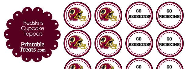 Washington Redskins Cupcake Toppers