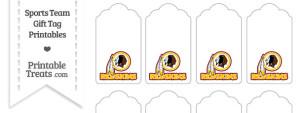 Washington Redskins Gift Tags
