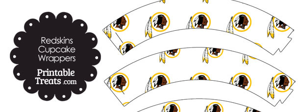 Washington Redskins Logo with White Background Cupcake Wrappers