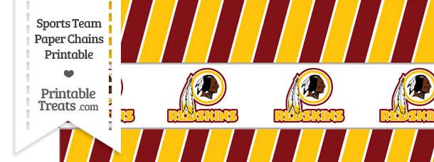 Washington Redskins Paper Chains