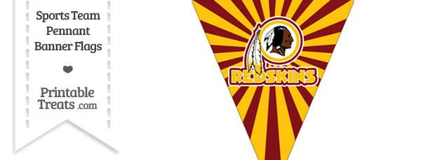 Washington Redskins Pennant Banner Flag