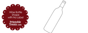 Wine Bottle Shape with No Label