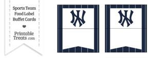 Yankees Food Label Buffet Cards